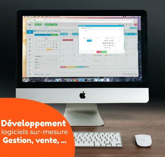 Développement sur mésure, Gestion, Vente, Développement d'application web, Site internet, Logiciel de gestion etc...